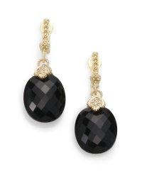 Lyst - Judith Ripka Black Onyx Diamond 14k Yellow Gold ...
