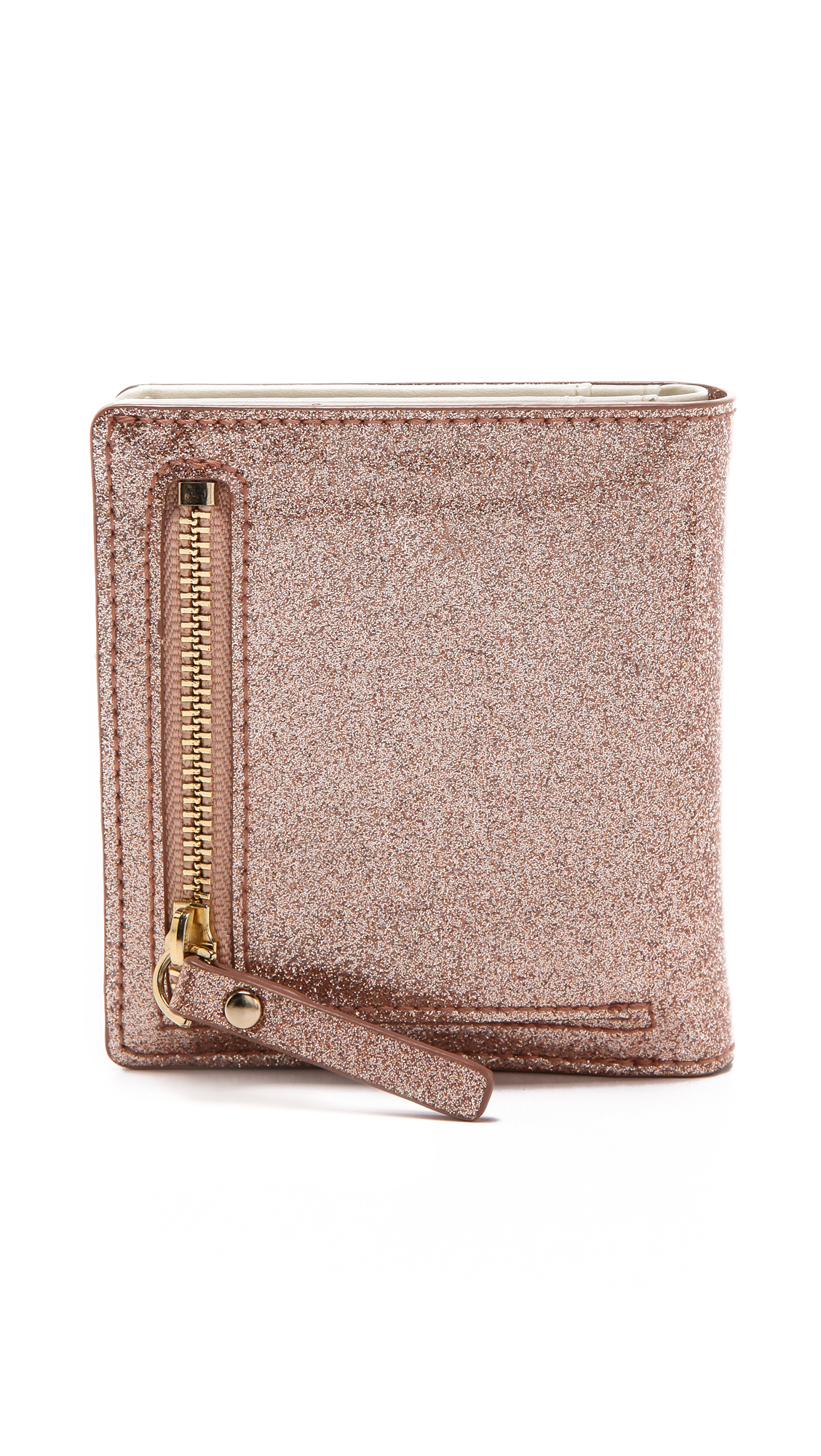 Kate Spade Glitter Bug Small Stacy Wallet in Rose Gold (Metallic) - Lyst