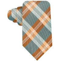 Lyst - Geoffrey beene Grey Flannel Plaid Tie in Orange for Men