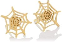 Charlotte Olympia Spider Web Earrings in Gold | Lyst