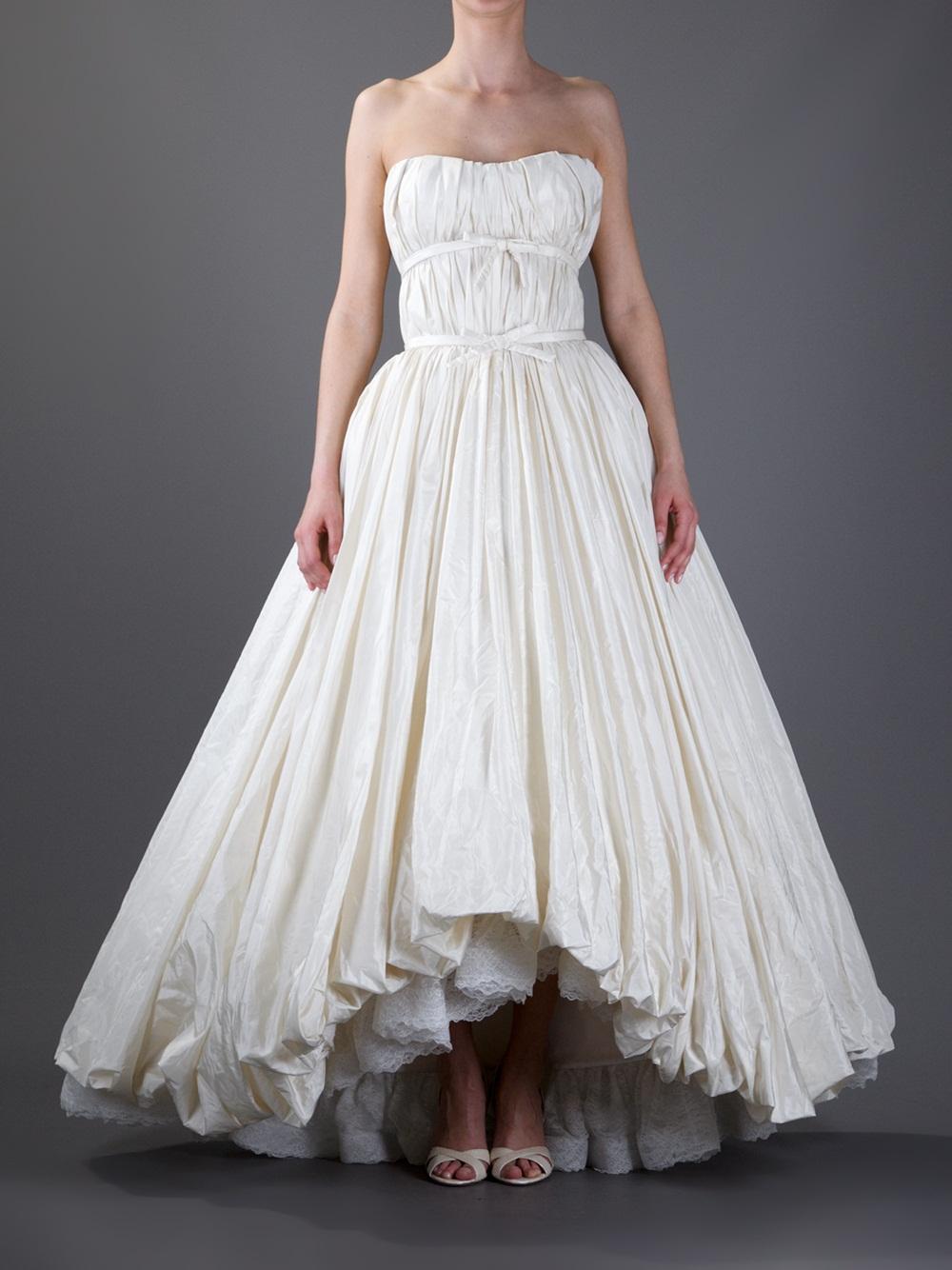 Lyst  Balenciaga Bridal Dress in Natural