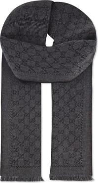 Gucci Lonarin Wool Scarf in Black for Men - Lyst