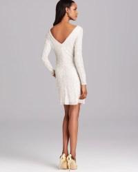 White Cocktail Dresses Long Sleeve