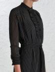 Black and White Pinstripe Dress Shirts