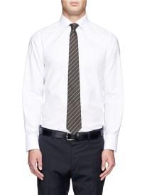 Lyst - Canali Regimental Stripe Wool Silk Tie for Men