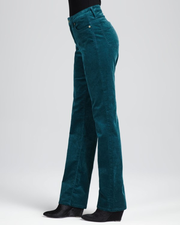 Christopher Blue Madison Corduroy Jeans In Green Henna
