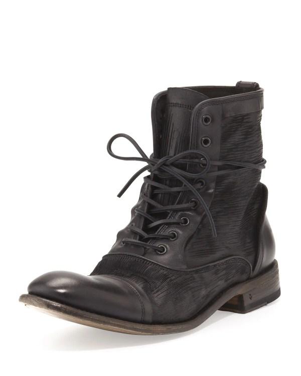 John Varvatos Freeman Raw Edge Lace- Boot In Black