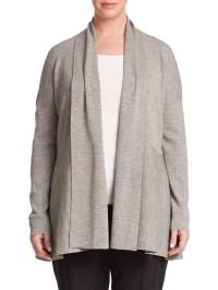 Women'S Shawl Collar Merino Wool Cardigan - Gray Cardigan ...