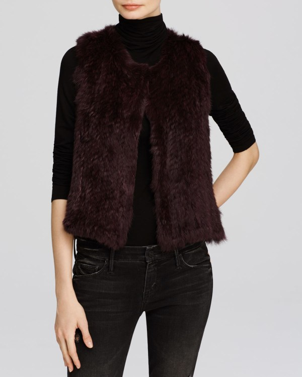 Lyst - 525 America Classic Fur Vest In Purple