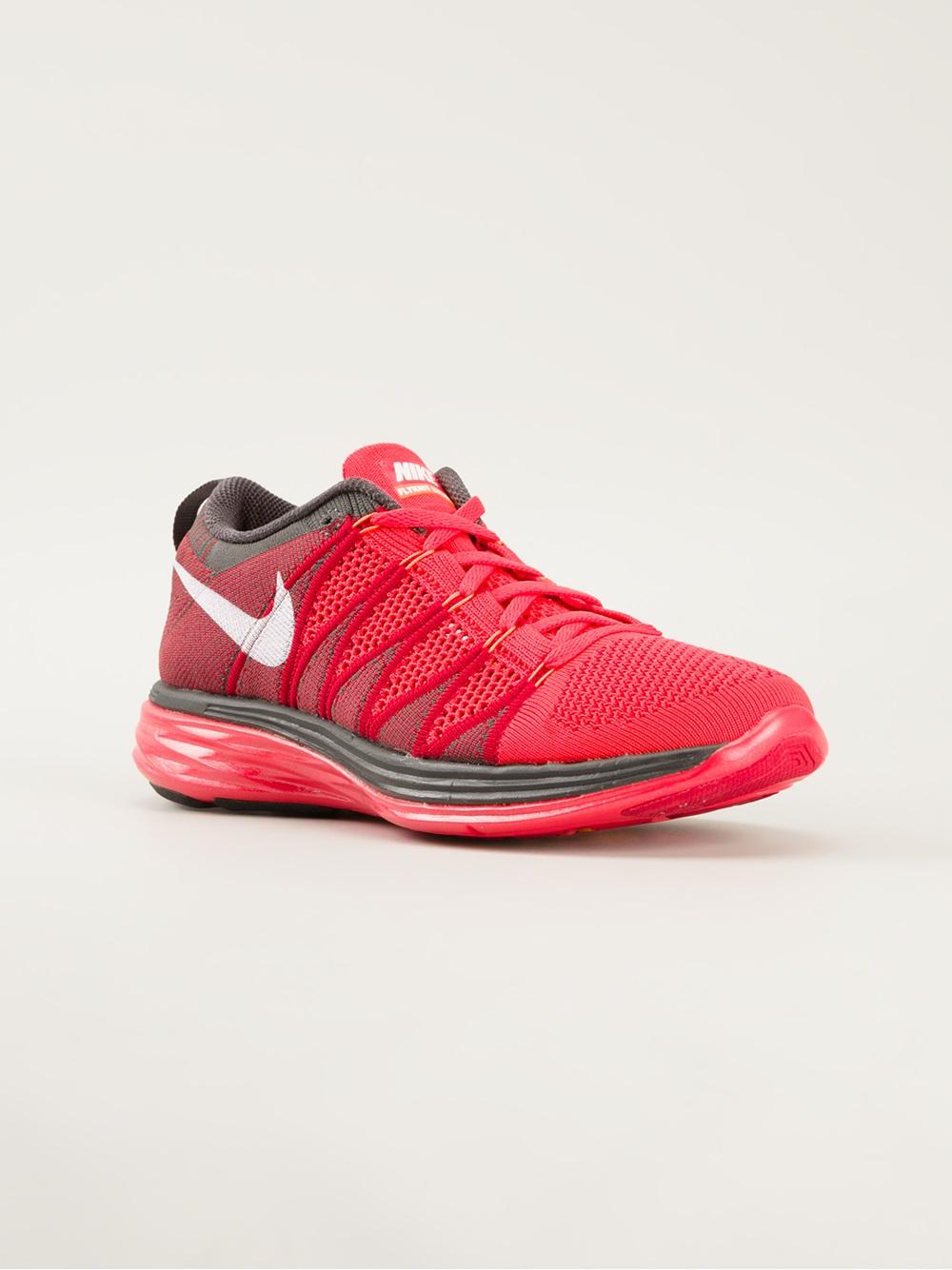 Nike Flyknit Lunar 2 Trainer in Red for Men  Lyst