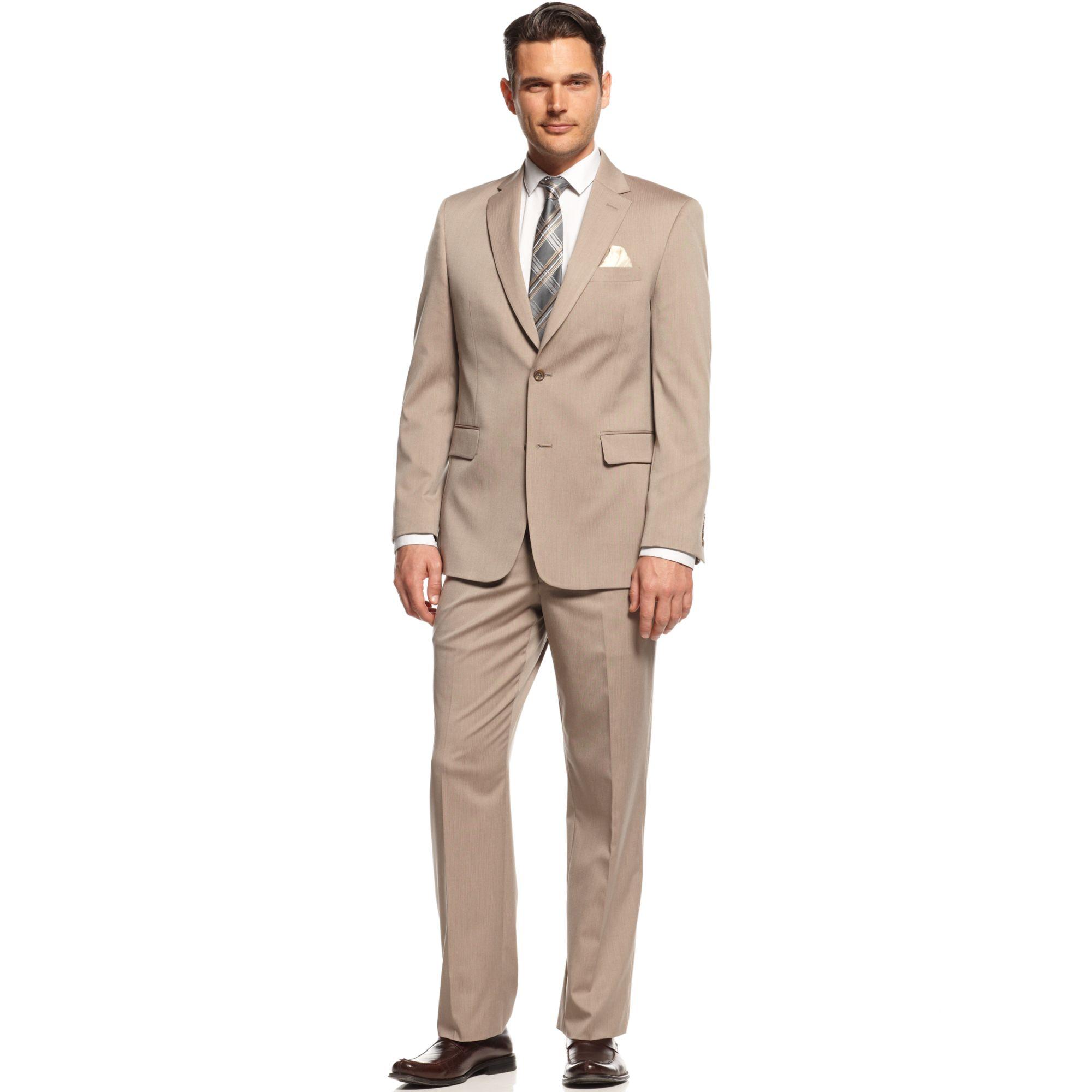 Jones New York Suit Tan Herringbone in Brown for Men Tan  Lyst