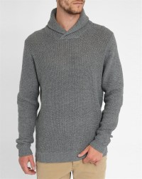 Jack & jones Grey Jjcoforce Shawl Collar Sweater in Gray