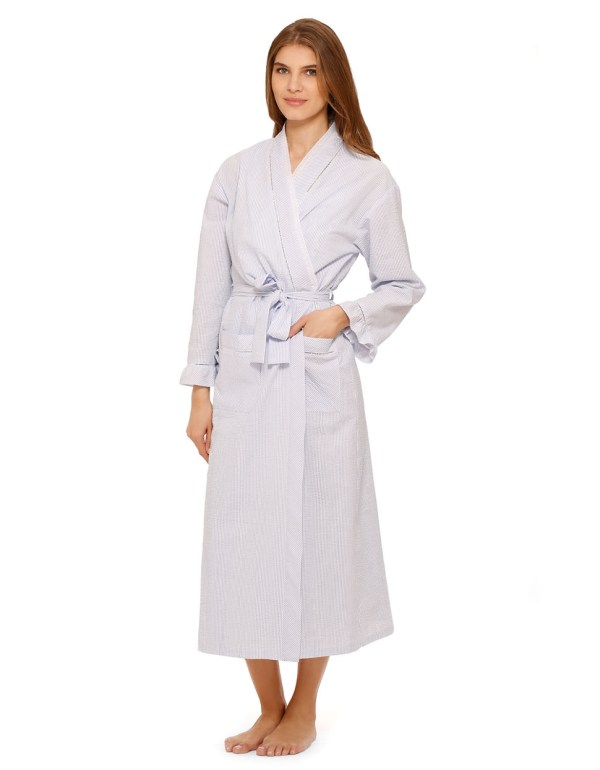 Seersucker Robes For Women - Keep Shopping Online