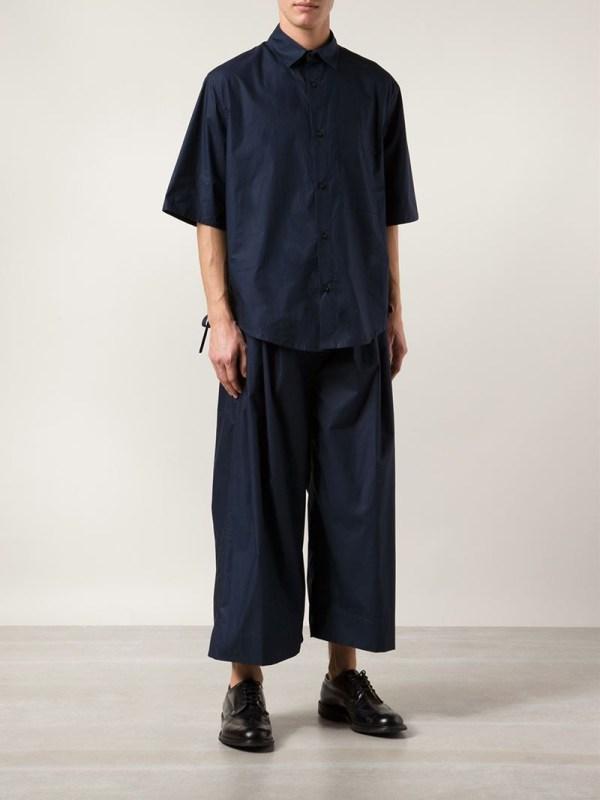 Bjrn Borg Cropped Wide Leg Trousers In Blue Men - Lyst
