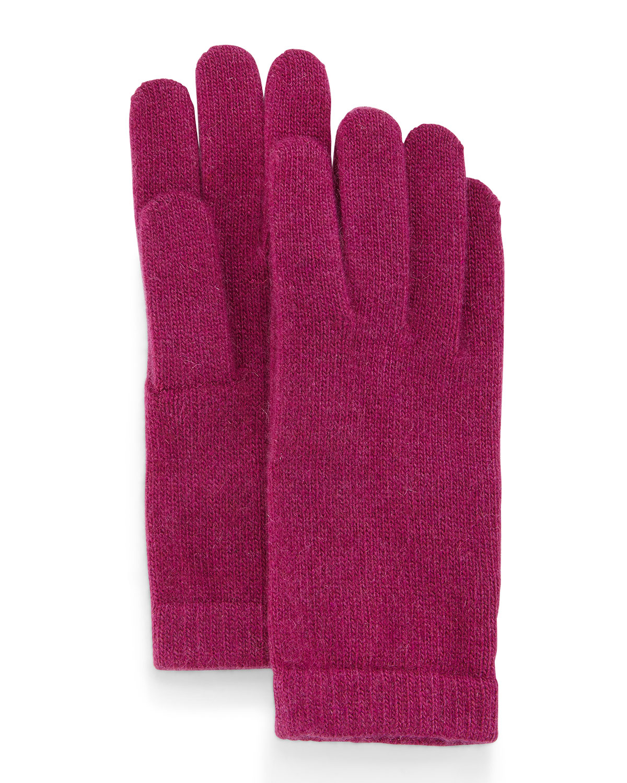 Portolano Cashmere Basic Knit Gloves In Red