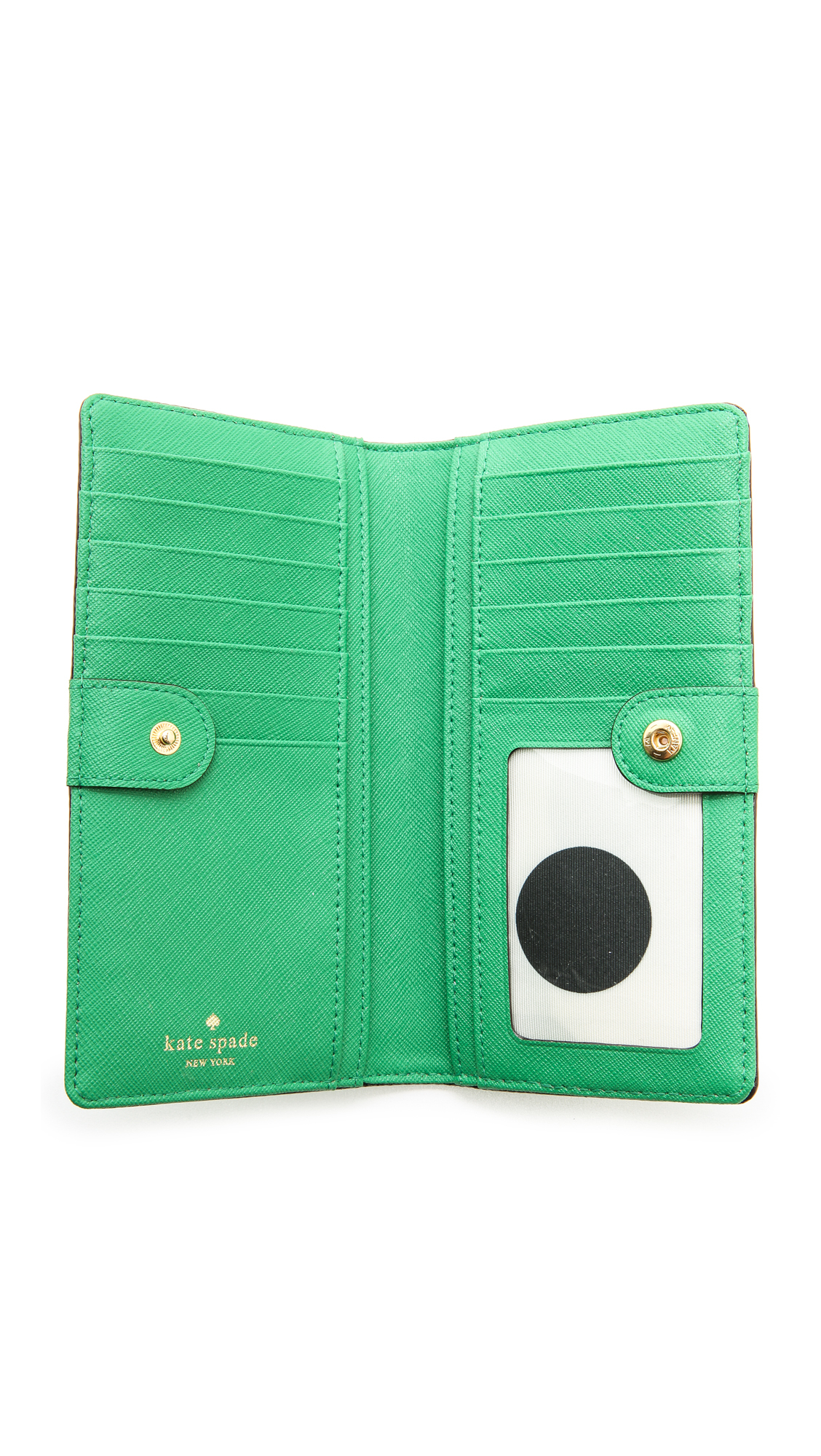 Kate Spade Stacy Continental Wallet in Green - Lyst
