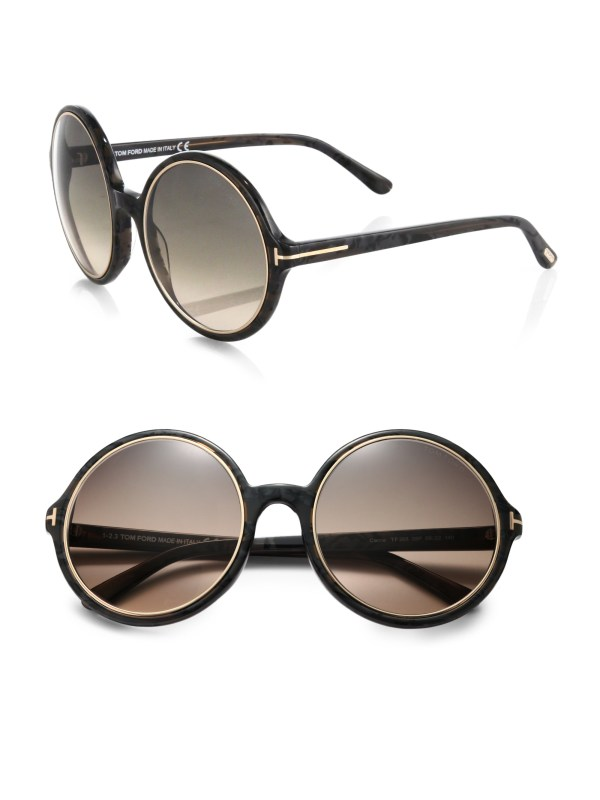 Tom Ford Round Sunglasses Black