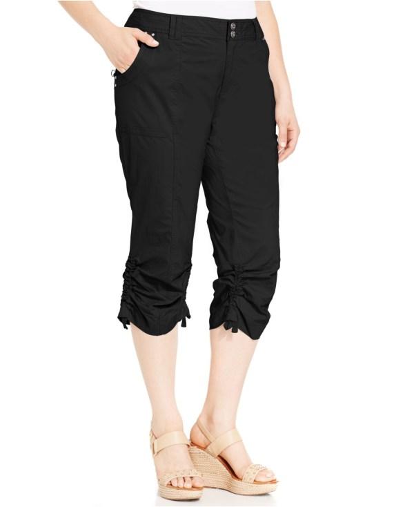 Plus Size Women's Black Cargo Pants