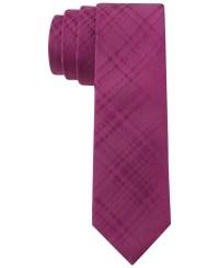 Calvin klein Mirror Plaid Skinny Tie in Purple for Men | Lyst