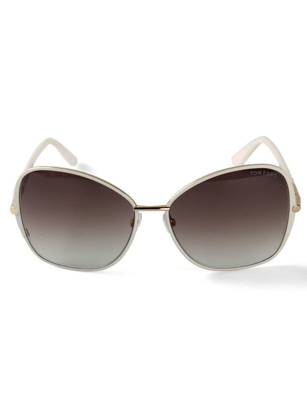 Tom Ford Solange Sunglasses In White Lyst