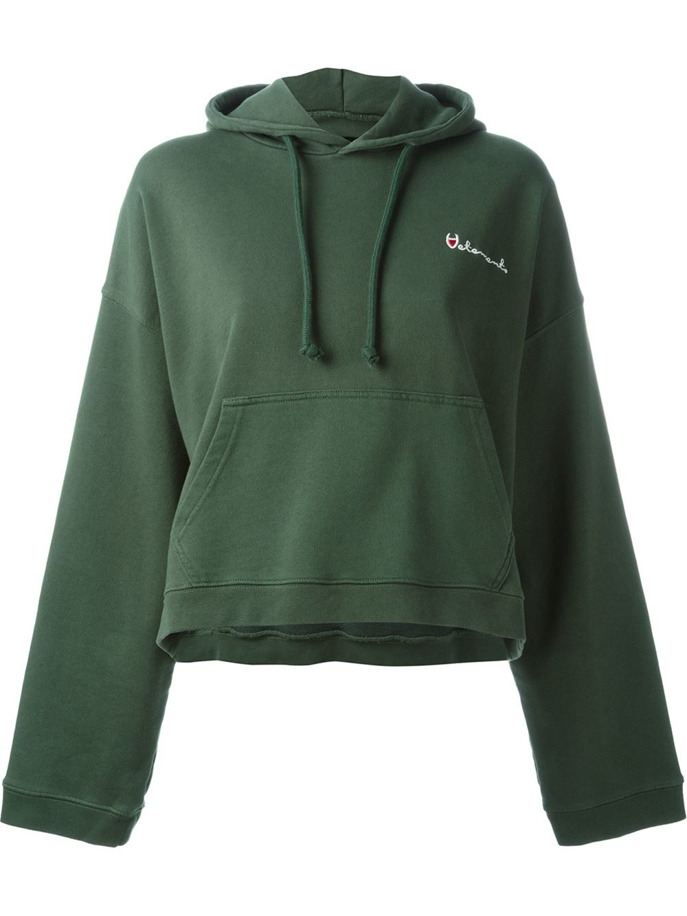 Vetements Reversible Hoodie In Green Lyst