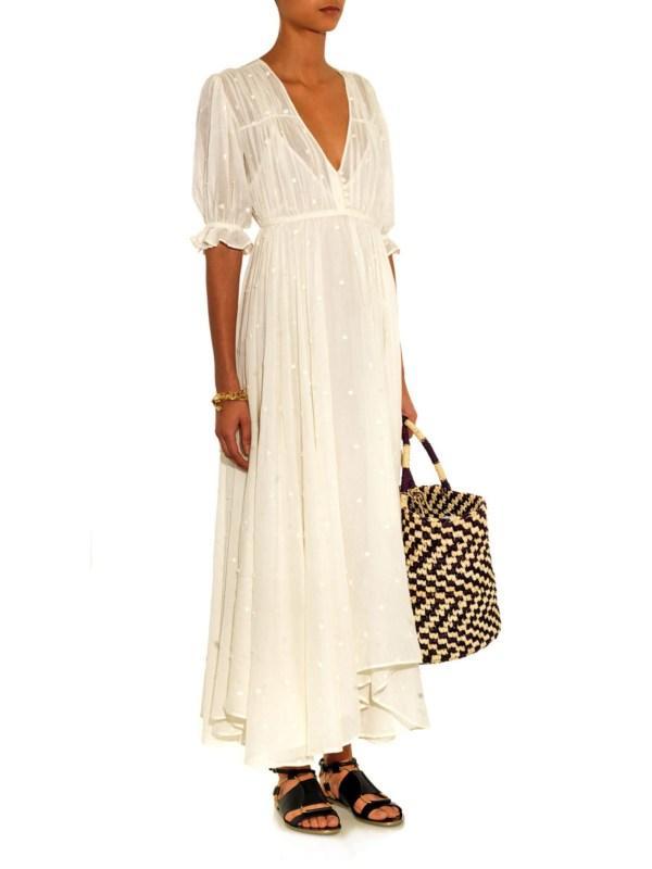 White Cotton Gauze Dresses