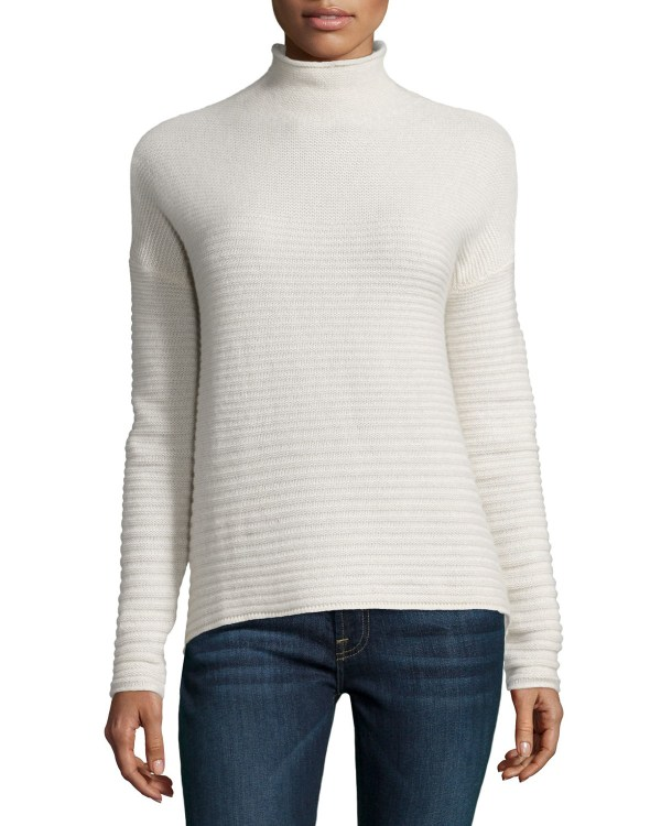 360cashmere Ribbed Cashmere Mock Turtleneck Sweater In