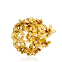 Pippa small Gold Flower Ring in Metallic | Lyst