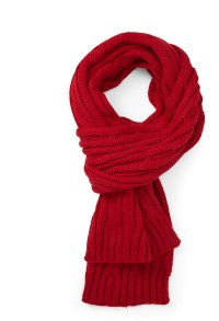 Forever 21 Cable Knit Scarf in Red | Lyst