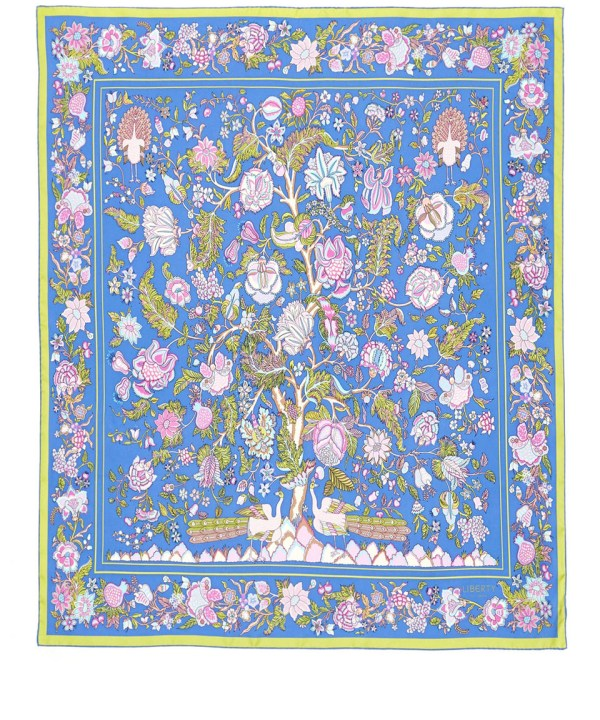 Lyst Liberty Blue Tree Of Life Silk Scarf in Blue