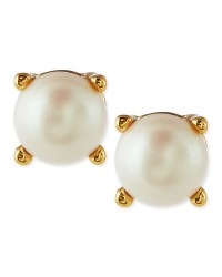 Kate Spade Faux Pearl Stud Earrings in White (PEARL) | Lyst