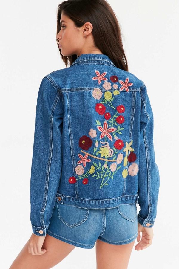 Kimchi Blue Woodstock Embroidered Denim Jacket In Lyst