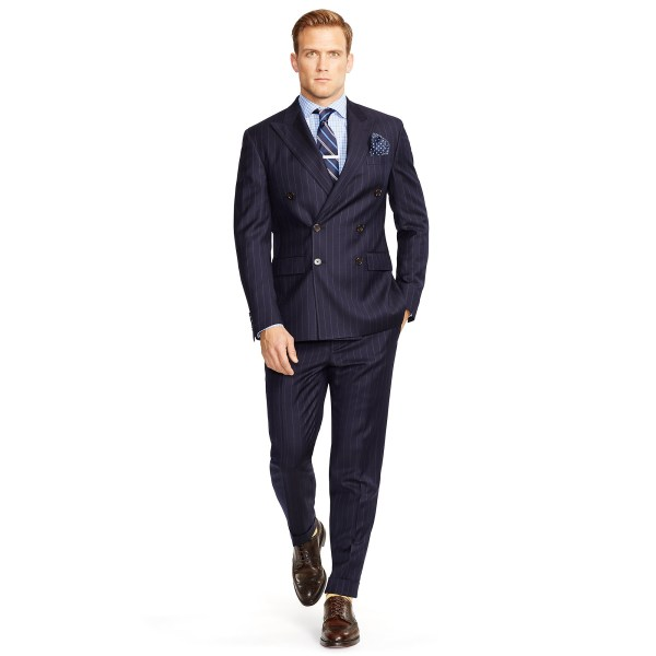 Lyst - Polo Ralph Lauren Double-breasted Suit In Blue Men