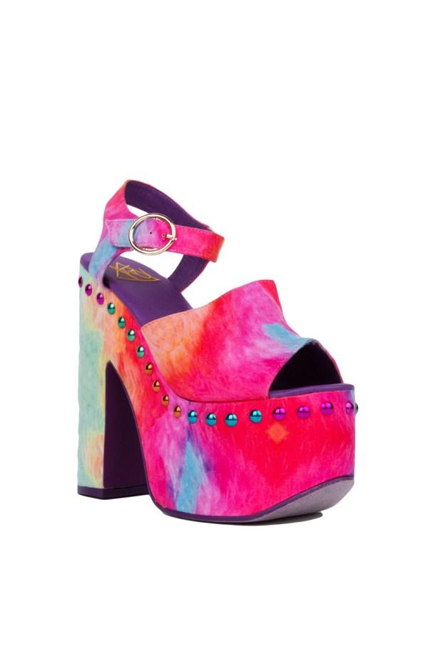 Lyst - Yru Daydream Studded Rainbow Platform Heels