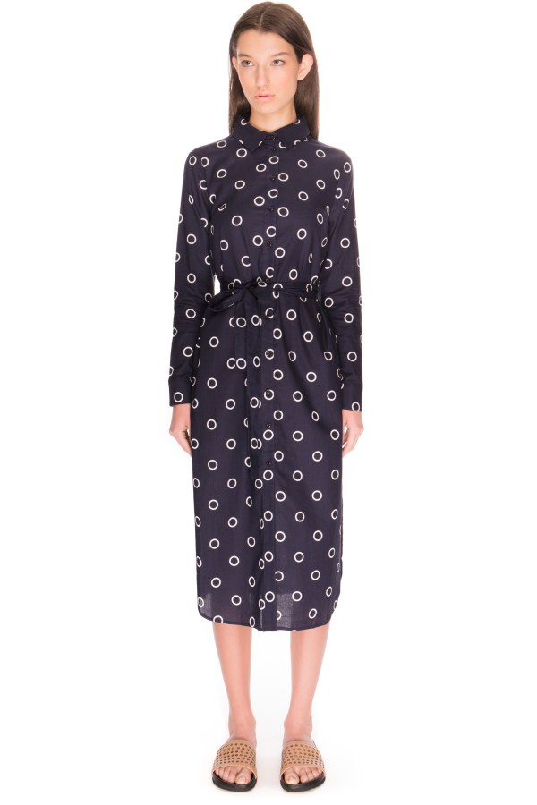 Label Age Of Aquarius Shirt Dress In Blue Lyst