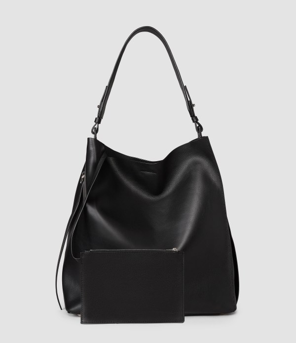 Allsaints Paradise North South Tote In Black - Lyst