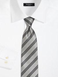 Lyst - Saks Fifth Avenue Striped Silk Tie in Gray for Men