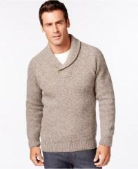 Sweater Shawl Collar - Sweater Vest