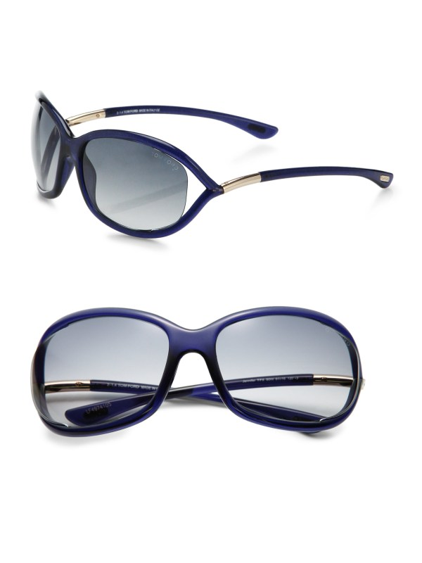 Tom Ford Jennifer 61mm Wrapped Sunglasses In Blue Lyst