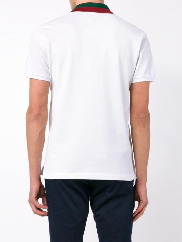 5ea1d909c Lyst - Gucci Striped Collar Polo T-shirt In White Men