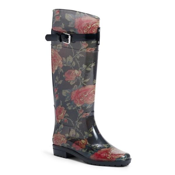 Lyst - Ralph Lauren Rossalyn Ii Floral Rain Boot In Black