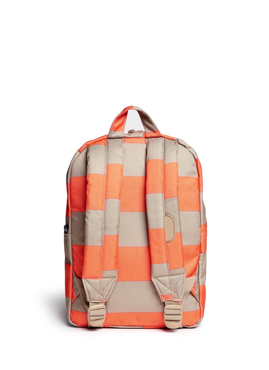 Herschel Supply Co. 'settlement' Contrast Stripe Kids Backpack in Orange - Lyst