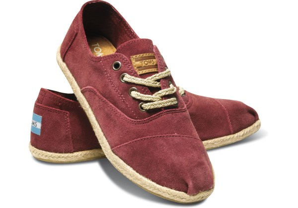 Toms Suede Womens Cordones In Red - Lyst