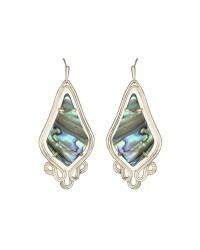 Kendra scott Kiera Abalone Drop Earrings in Metallic | Lyst