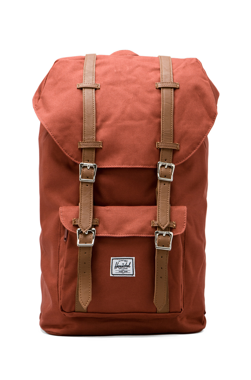 Herschel Supply Co. Little America Backpack in Burnt Orange in Rust (Brown) - Lyst