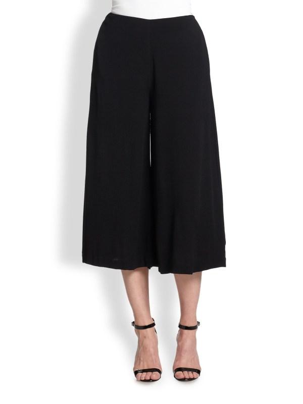 Line & Dot Wide-leg Gaucho Pants In Black Lyst