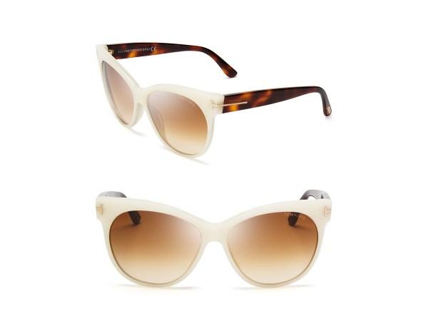 Lyst - Tom Ford Saskia Cat Eye Sunglasses In White