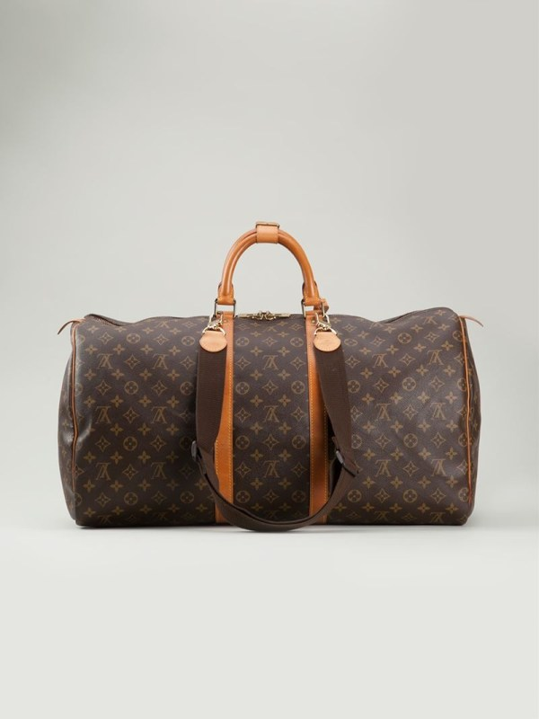 Louis Vuitton 'keepall 55' Travel Bag In Brown - Lyst