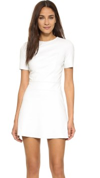 Short Sleeve White Dress | All Dress