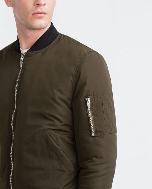 Zara Quilted Bomber Jacket In Green Men Lyst